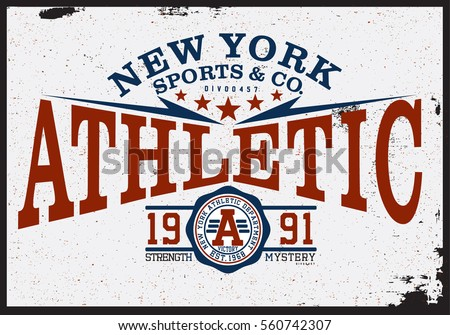athletic t shirt graphic