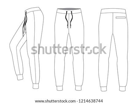 Athletic training pants, vector Photo stock ©