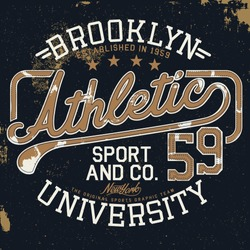 athletic vintage graphic for t-shirt
