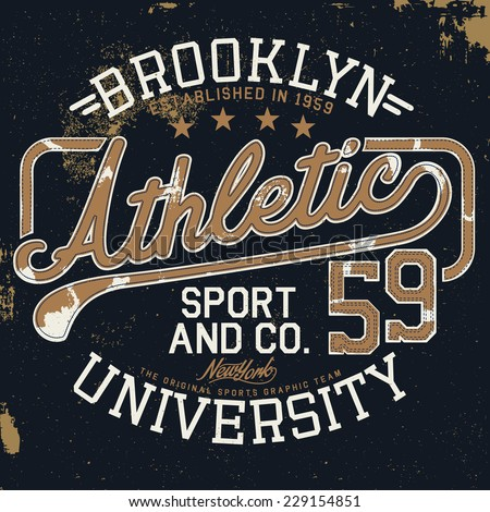 athletic vintage graphic for t...