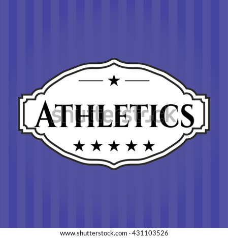 Athletics colorful card, banner or poster with nice design