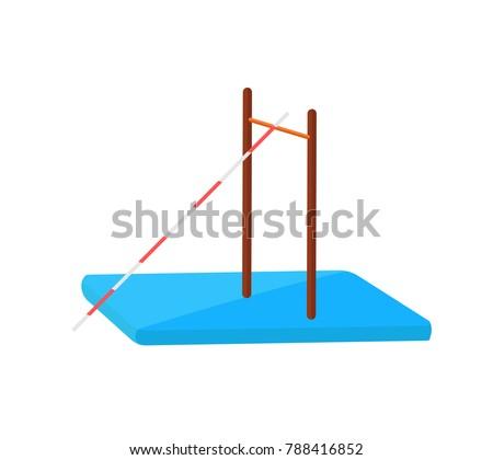 athletics jumping pole flat