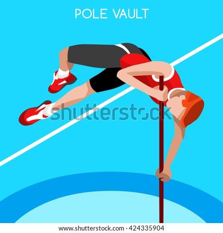 athletics pole vault sportsman
