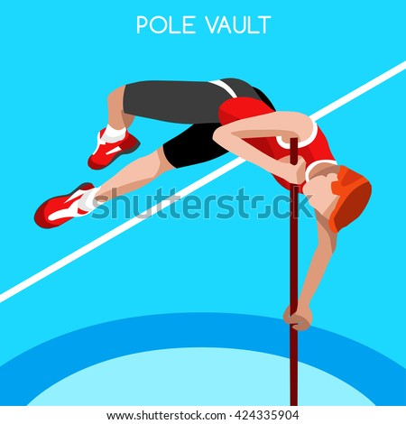 athletics pole vault sportsman