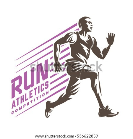 athletics running man sport