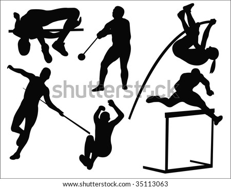 athletics sport collection vector Stock photo ©