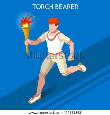 athletics torch bearer baton