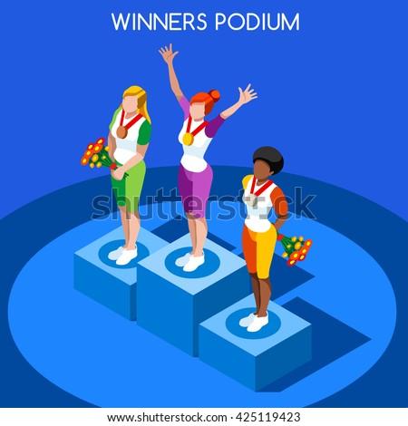 athletics winner podium