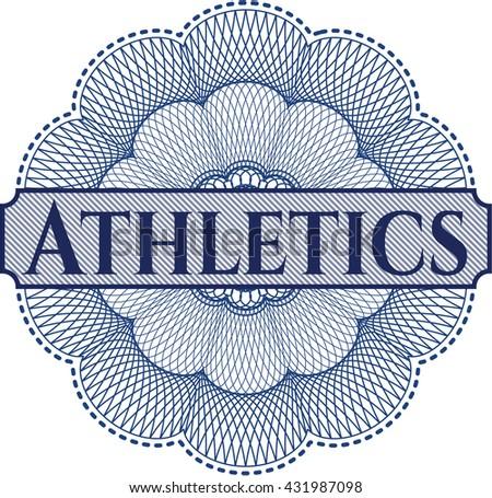 Athletics written inside rosette