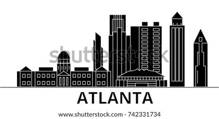 atlanta architecture vector