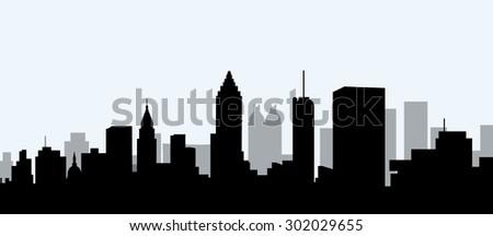 atlanta city morning skyline