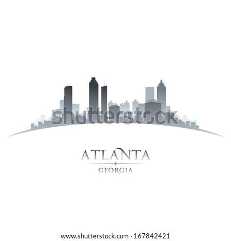 Atlanta Georgia city skyline silhouette. Vector illustration