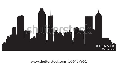 Atlanta Georgia skyline Detailed vector silhouette