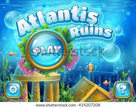 atlantis ruins   vector