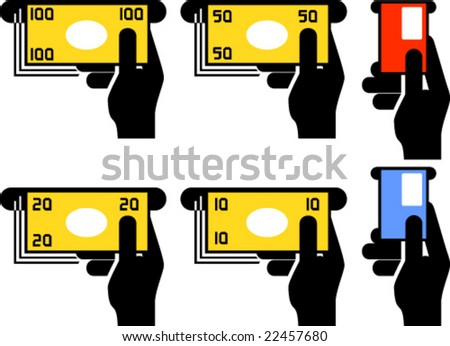 ATM pictograms for signs, icons, posters etc.
