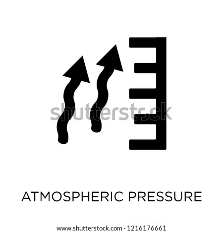 atmospheric pressure icon. atmospheric pressure symbol design from Weather collection. Simple element vector illustration on white background.