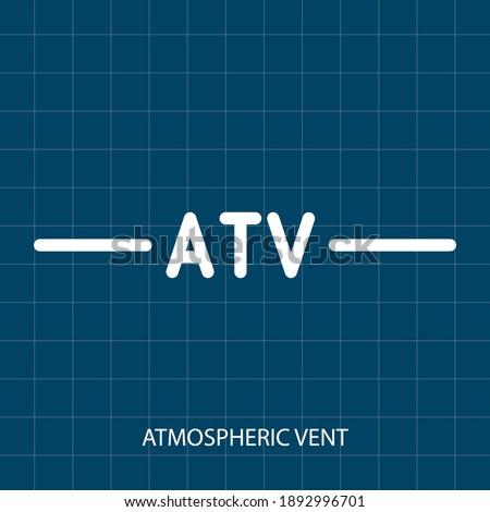 ATMOSPHERIC VENT VECTOR SYMBOL OF PUMPING SYSTEM MECHANICAL SYSTEM stock photo