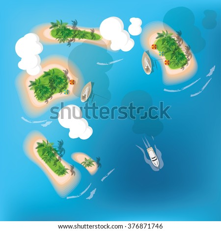 atoll tropical island view