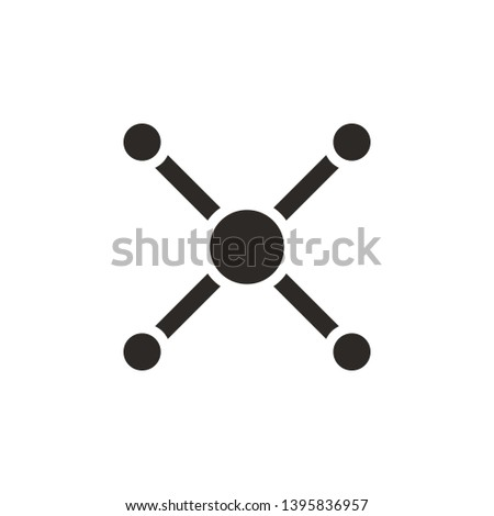 Atom, atom bond icon - Vector. Simple element illustration from UI concept. Atom, atom bond icon - Vector. Infographic concept vector illustration. on white background