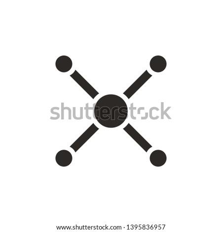 Atom, atom bond icon - Vector. Simple element illustration from UI concept. Atom, atom bond icon - Vector. Infographic concept vector illustration. on white background