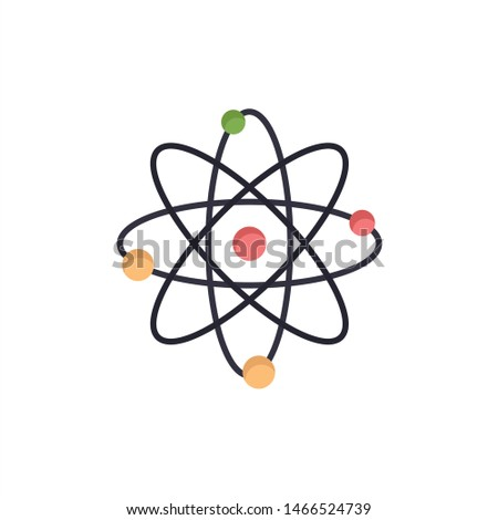 Atom, Energy, Power, Lab  Flat Color Icon. Vector icon banner Template. Vector Icon Template background