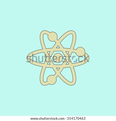 atom flat simple line icon