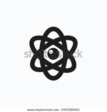 Atom icon. Atom symbol. Atom sign symbol. Vector illustration. EPS 10