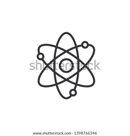 Atom icon. Atom symbol. Atom sign. Vector illustration. Color easy to edit. Transparent background.
