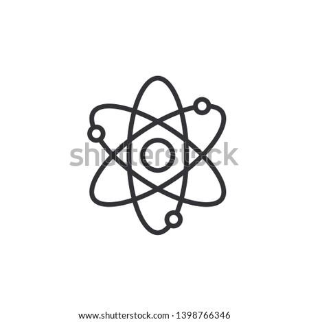 Atom icon. Atom symbol. Atom sign. Vector illustration. Color easy to edit. Transparent background.