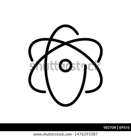 Atom icon Atom symbol vector illustration logo template. EPS 10
