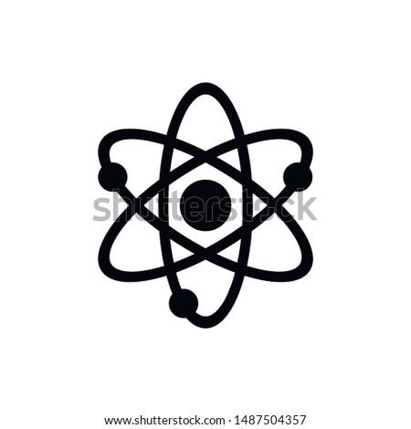 atom icon, atom vector symbol, chemistry & science research