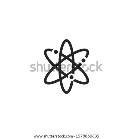 atom icon, atom vector symbol, chemistry & science research - 01