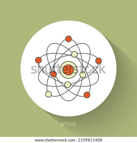 Atom icon. Atom vector symbol illustration