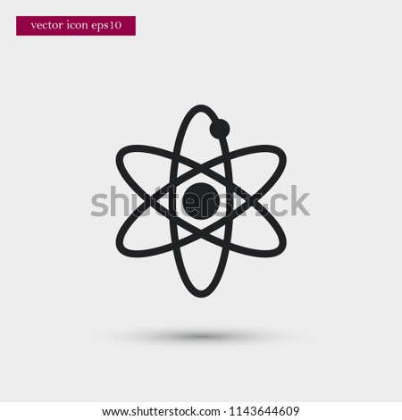 Atom icon education simple vector illustration sign