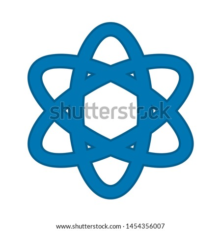 atom icon. flat illustration of atom. vector icon. atom sign symbol