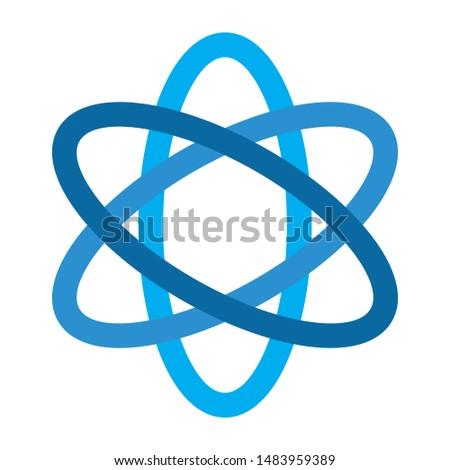 atom icon. flat illustration of atom. vector icon. atom sign symbol