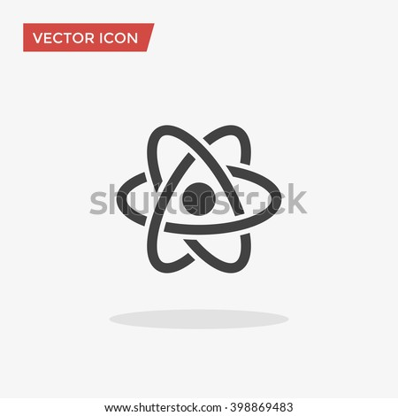 Atom Icon in trendy flat style isolated on grey background. Atom symbol for your web site design, logo, app, UI. Vector illustration, EPS10.