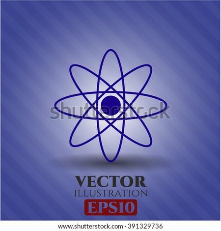 Atom icon or symbol