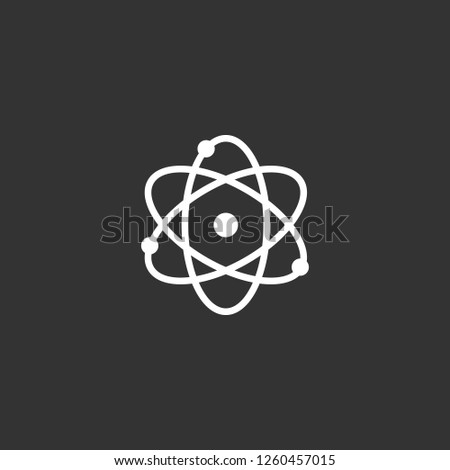 atom icon vector. atom sign on black background. atom icon for web and app