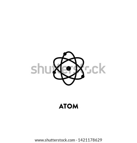 atom icon vector. atom sign on white background. atom icon for web and app