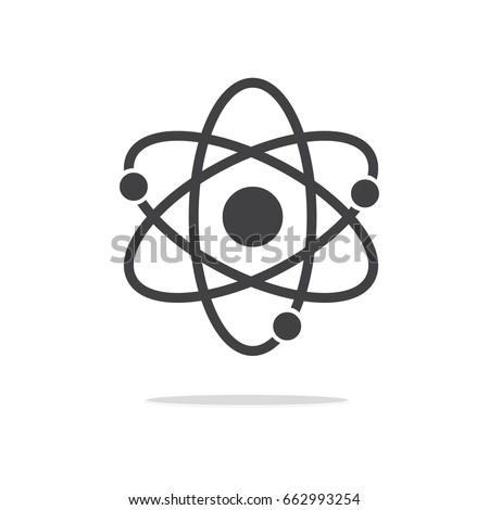 Atom icon vector , atom symbols.