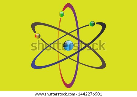Atom icon vector , atom symbols. Vector illustration
