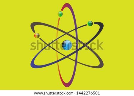 Atom icon vector , atom symbols. Vector illustration