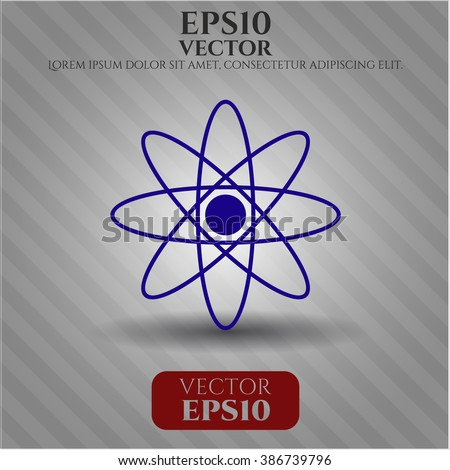 Atom icon vector illustration