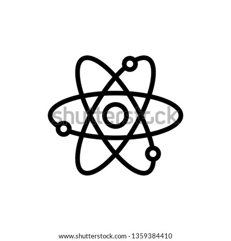 Atom Icon Vector Illustration Logo Template