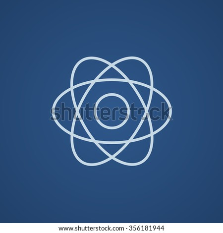 atom line icon for web  mobile