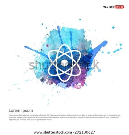 atom sign icon   abstract logo