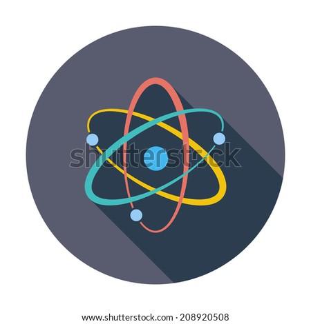 atom single flat color icon