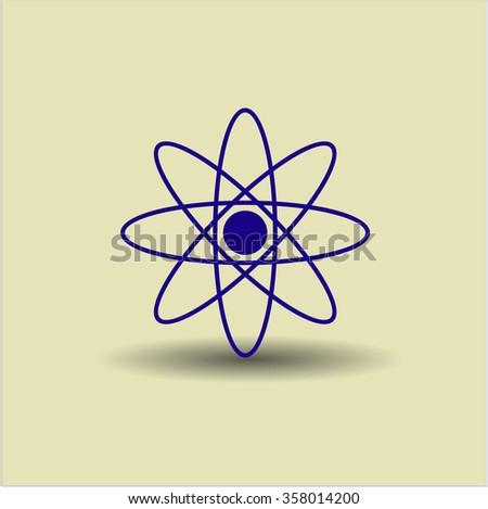 Atom vector icon or symbol