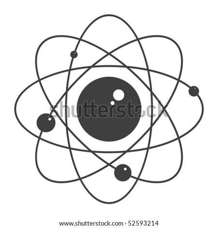Atom, vector illustration